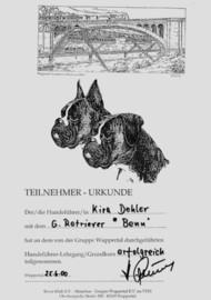 Hundeführer-Lehrgang Wuppertal, Urkunde Hundeführer-Lehrgang, Hundehotel Casa Happy Haan